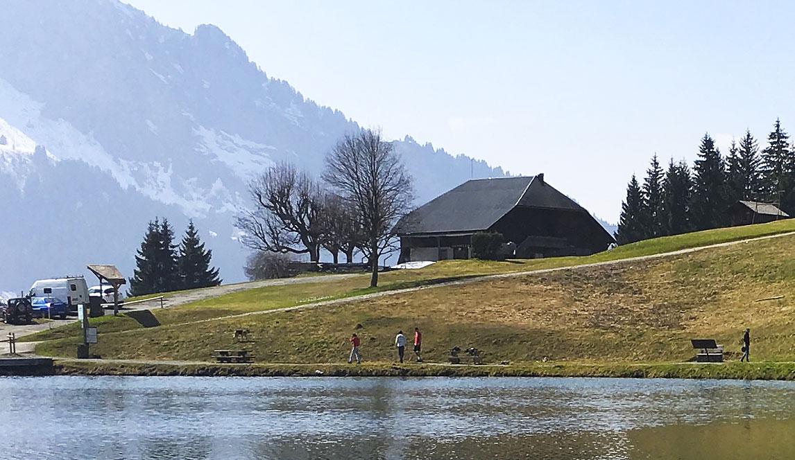 Photographie du refuge au lac des Mines d'or (Morzine)