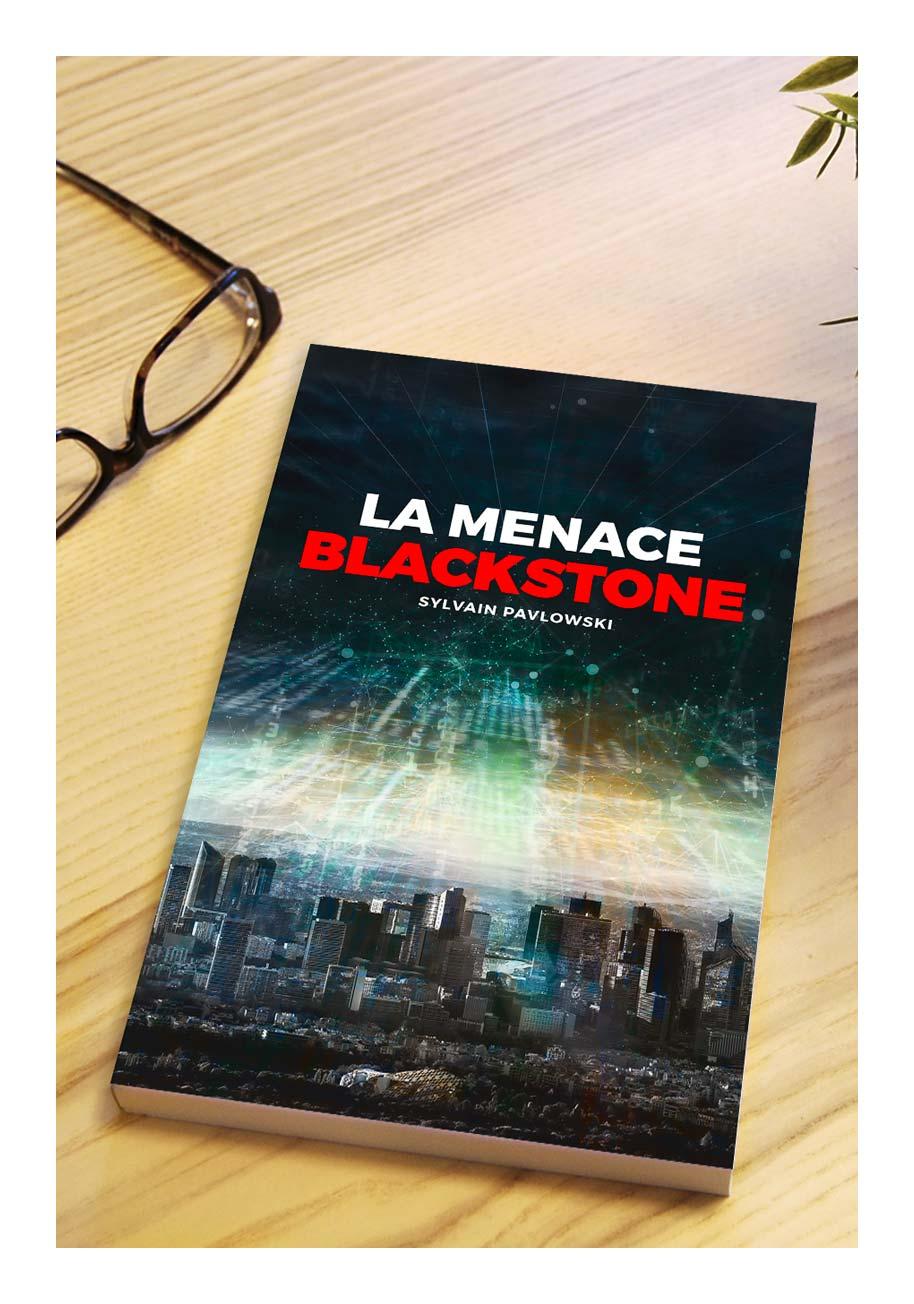Aperçu d'un mockup du livre imprimé de La Menace Blackstone