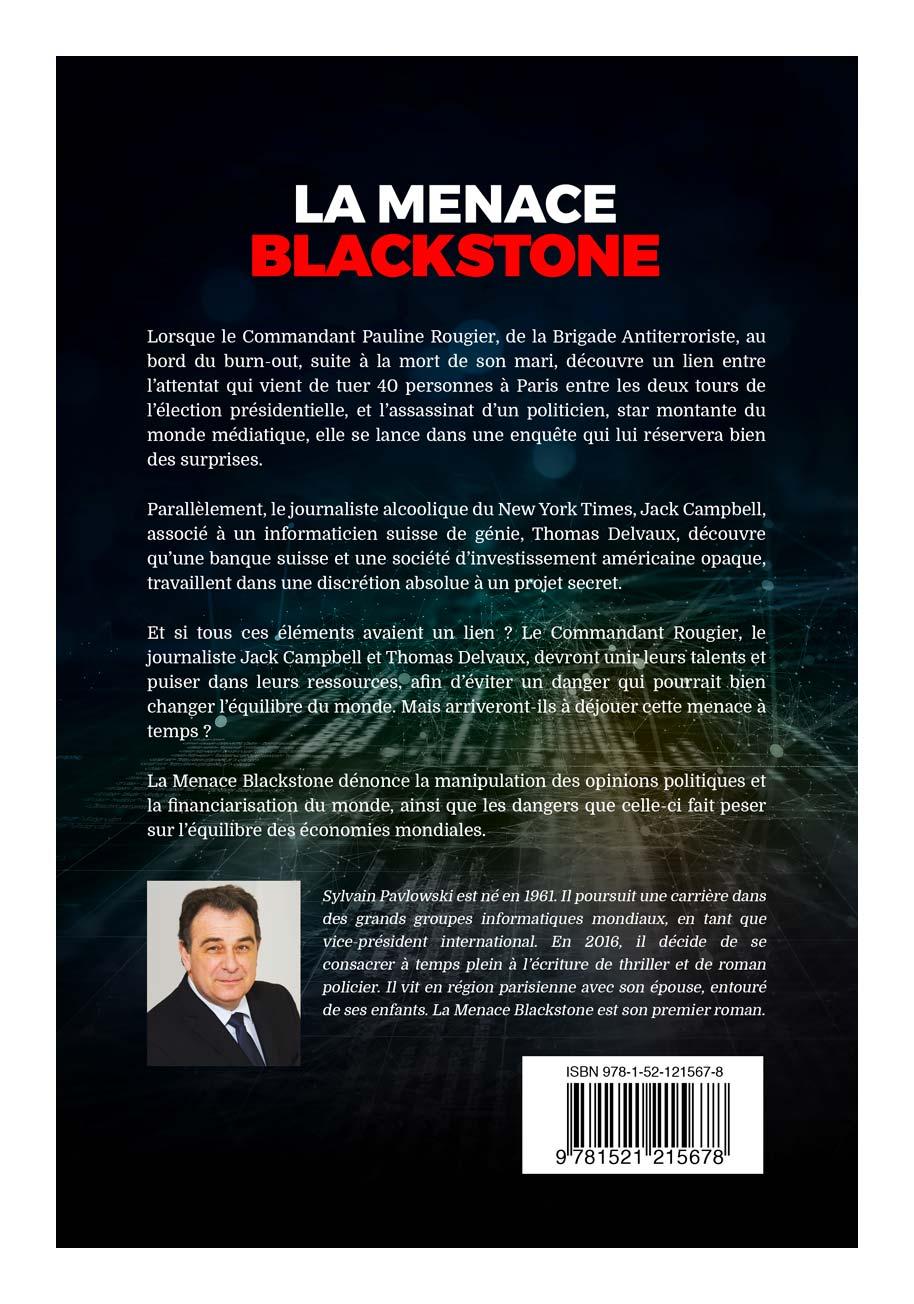 Quatrième de couverture du roman de La Menace Blackstone